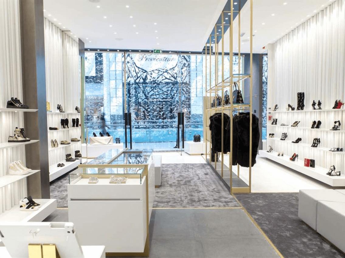 Giuseppe zanotti luxury footwear fashion accessories for Boutique one dubai