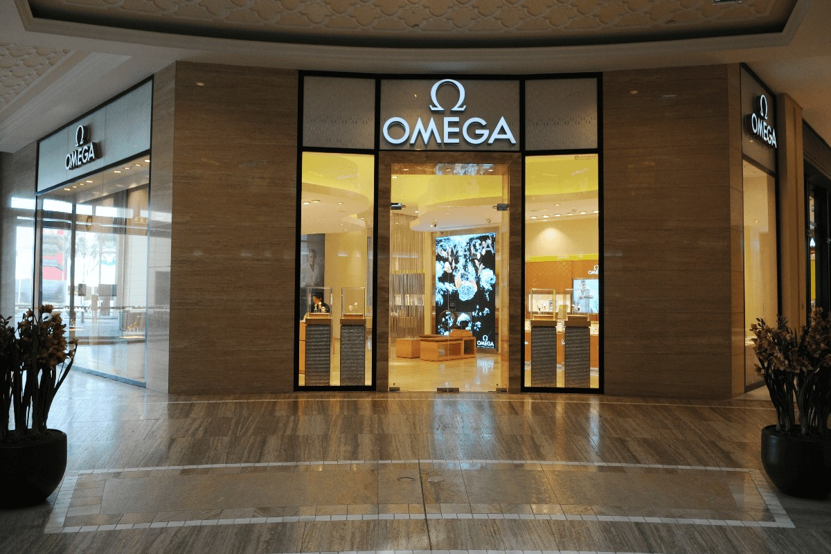 omega swiss luxury watch manufacturer at the dubai mall