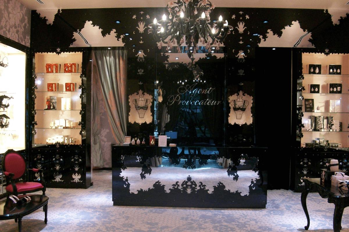 agent provocateur british lingerie retailer at the dubai mall. Black Bedroom Furniture Sets. Home Design Ideas