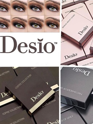 Desio color contact lenses .