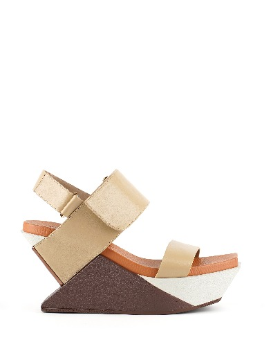 Delt Wedge Sandal I Toffee